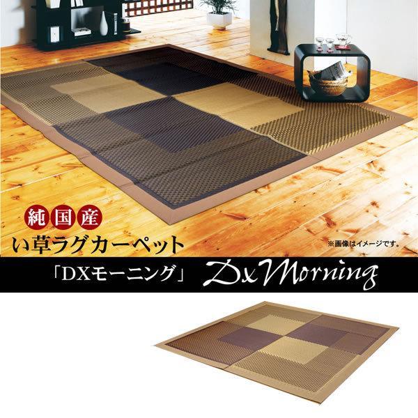 純国産 い草ラグカーペット 『DXモーニング』 ベージュ 約191×191cm (裏:不織布) IK-8214920