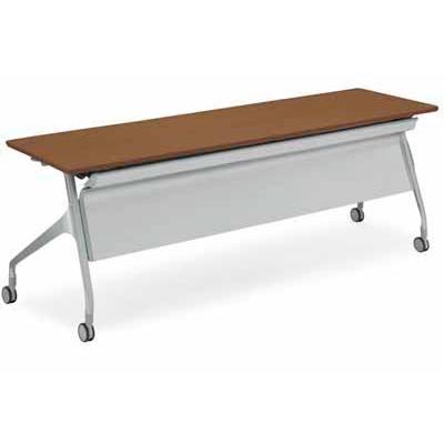 コクヨ 大型会議テーブル エピファイ 会議用テーブル 天板フラップ式 配線キャップなし パネル付き 直線タイプ 幅2100×奥行… KT-PS1009