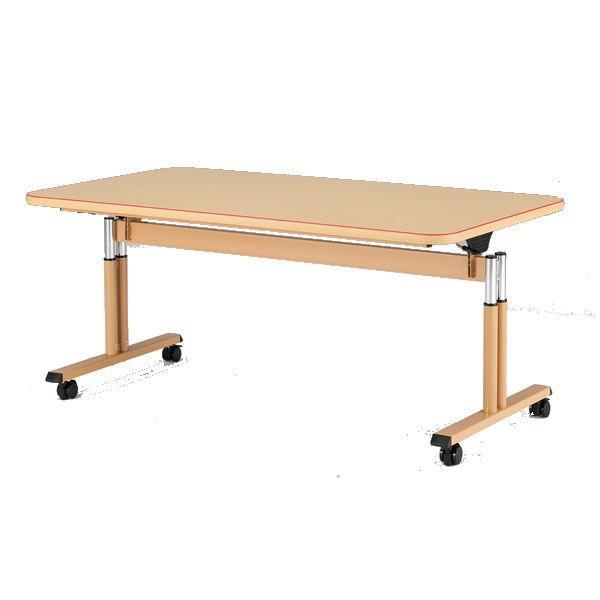 (福祉関連)介護用テーブル 天板昇降 幅1600×奥行900×高さ660mm〜800mm MAT-1690