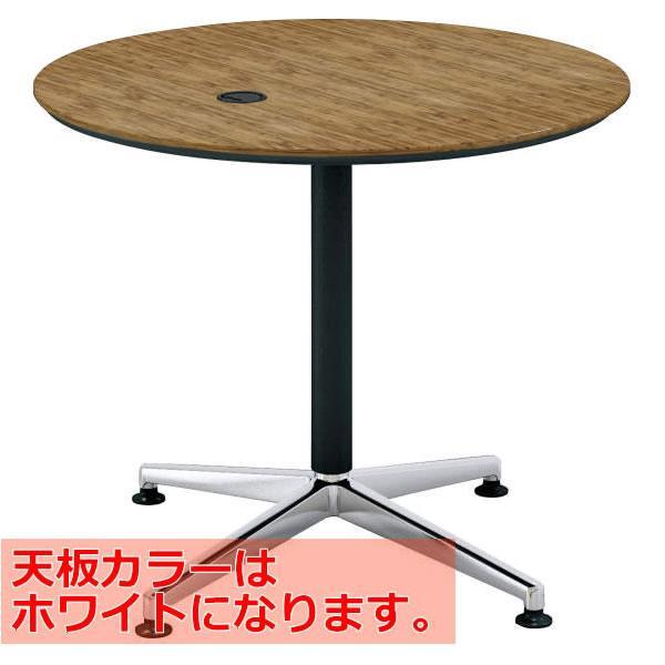 コクヨ SAIBI(サイビ) ミーティングテーブル サークルタイプ 配線あり ポリッシュ脚 ホワイト天板 φ900 MT-X9WPMPAW MT-X9WPMPAW