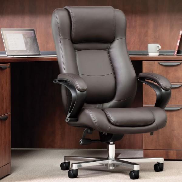 オフィスチェア マネージメントチェア ハイバック ボンデッドレザー+ビニールレザー張り オフィスチェア マネージメントチェア ハイバック ボンデッドレザー+ビニールレザー張り RB-1855