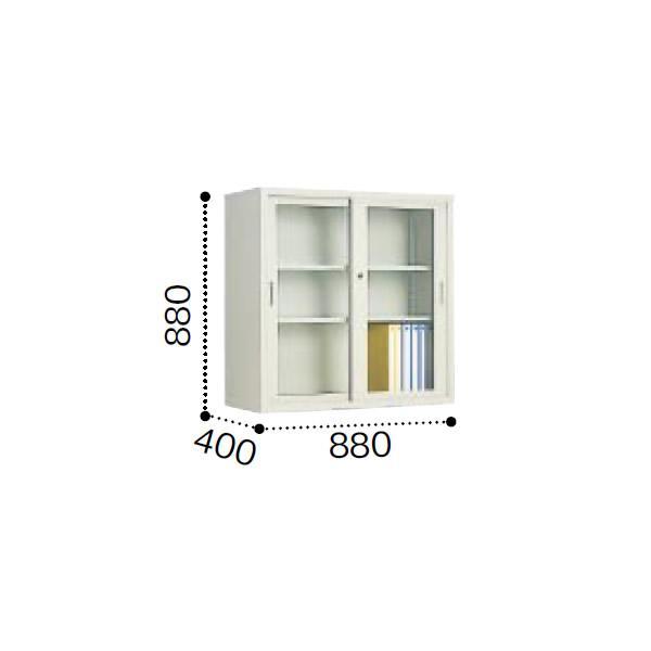 コクヨ A4サイズ対応 保管庫浅型 ガラス引き違い戸タイプ *飛散防止フィルム貼りガラス 上置き 幅880×奥行400×高さ8… S-U335GGF1 コクヨ A4サイズ対応 保管庫浅型 ガラス引き違い戸タイプ *飛散防止フィルム貼りガラス 上置き 幅880×奥行400×高さ8… S-U335GGF1