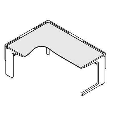 コクヨ レヴィスト デスクシステム パーソナルテーブル L型テーブル L側 幅1800×奥行き1200mm SD-LVLL1812L SD-LVLL1812L
