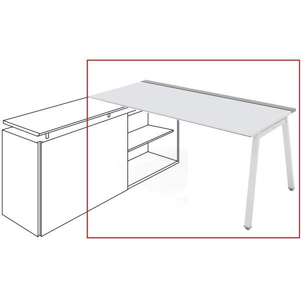 コクヨ SAIBI-TX(サイビティーエックス) テーブル部分 R側 木目天板 幅1600×奥行700mm (収納脚別売り) SD-TER167V