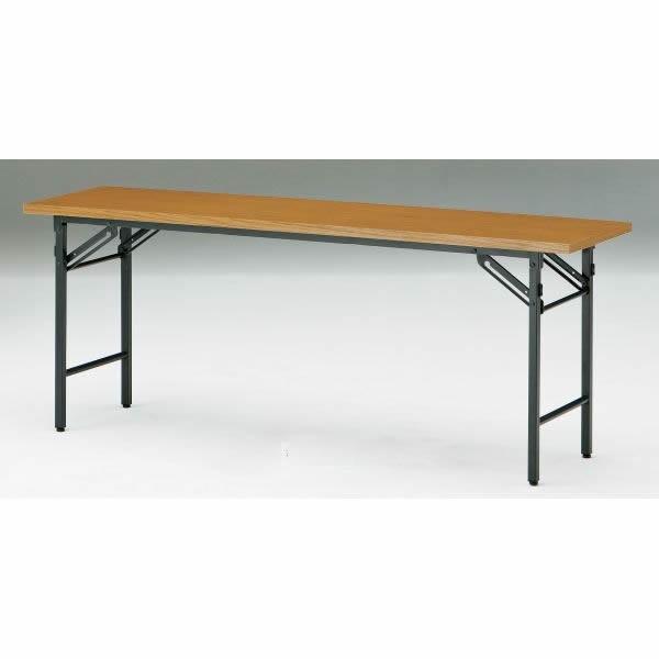 折り畳みテーブル Tシリーズ 折り畳みテーブル Tシリーズ 折り畳みテーブル Tシリーズ 棚無・パネル無 幅1800×奥行450×高さ700mm T-1845N 8c7