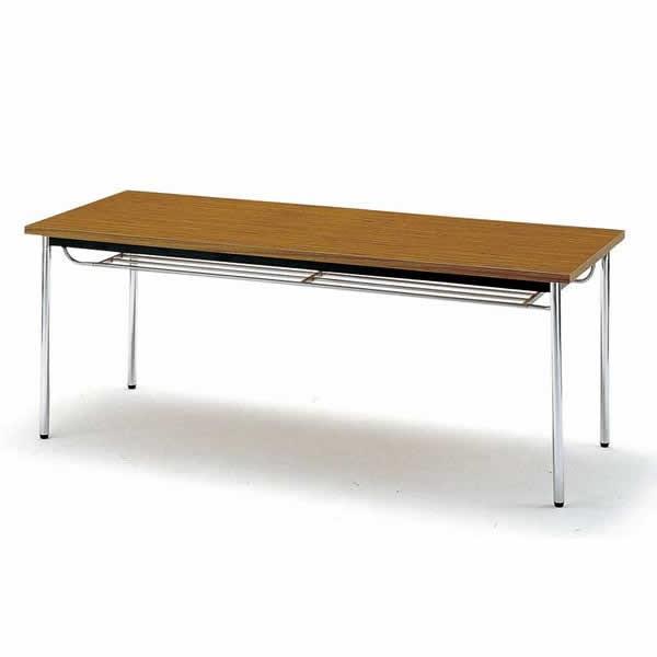 会議テーブル TDS・TDシリーズ TD 棚付 丸脚 幅1200×奥行き750×高さ700mm TD-1275TM