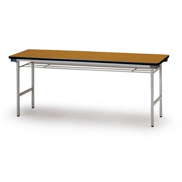 折り畳みテーブル(棚付) スチール脚 幅1800mm×奥行450mm×高さ700mm TF-1845 TF-1845 TF-1845 7a3