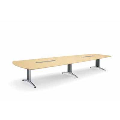 コクヨ 大型会議テーブル WT-200シリーズ ウイング型 メラミン天板 配線なし 幅3200mm×奥行き1200×高さ720mm WT-221 WT-221