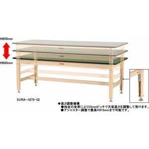 ワークテーブル 800シリーズ 高さ調整タイプ メラミン天板 幅1500×奥行き600×高さ600〜850mm YAMA-SVMA-1560