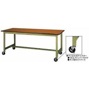 ワークテーブル 300シリーズ 移動式高さ900mm スチール天板 幅900×奥行き750×高さ900mm YAMA-SWSHC-975