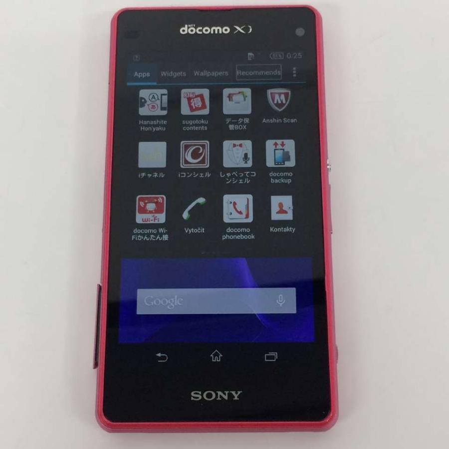 【中古】Xperia Z1 f SONY SO-02F  docomo 16GB ピンク rm-03301 ecosma 03