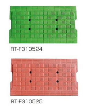 RT-F310525 ゴム製側溝蓋ソフトカバー(みぞ幅240mm用) 茶 規格:W330×L600×t15mm、7.7kg