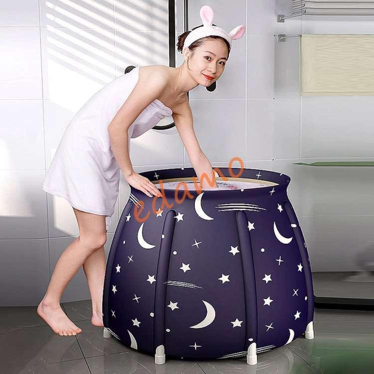 ポータブルバスタブ 折りたたみ浴槽  シャワールーム 水風呂 プール キャンプ  簡易浴槽 家庭用 浴槽 大人 子供|edamoshop|02