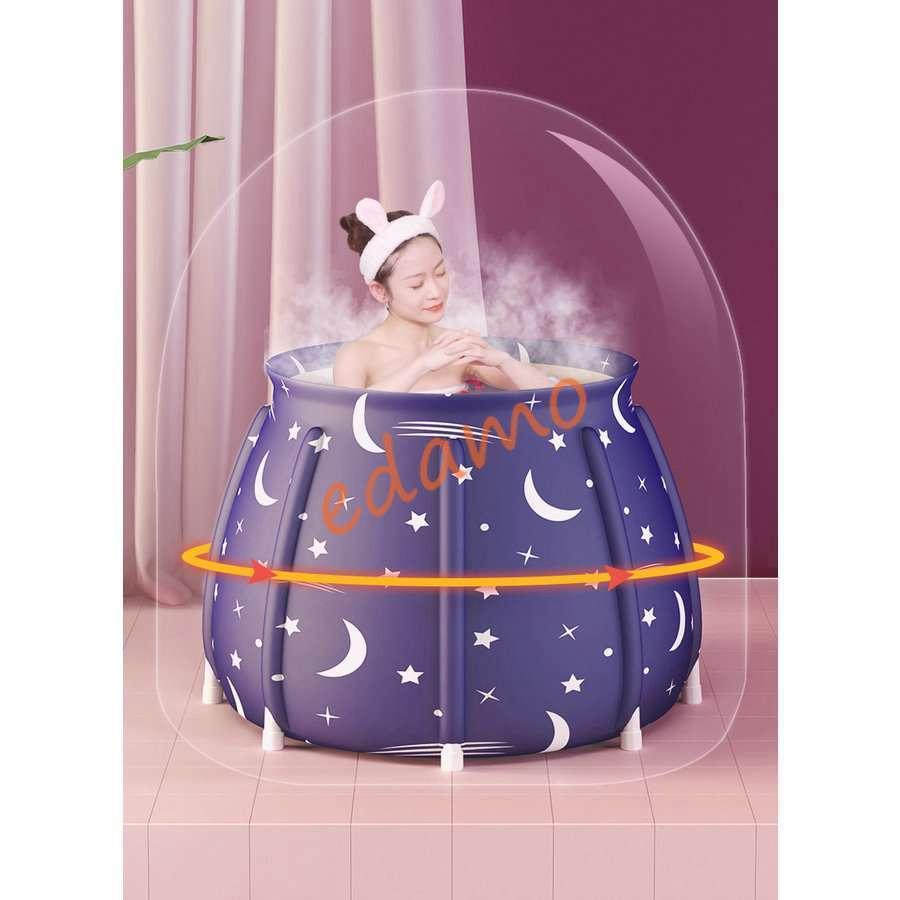 ポータブルバスタブ 折りたたみ浴槽  シャワールーム 水風呂 プール キャンプ  簡易浴槽 家庭用 浴槽 大人 子供|edamoshop|05