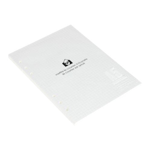 A5 6穴リフィル 100シート 方眼5mm アイボリー ルーズリーフ シンプル 公式通販サイト