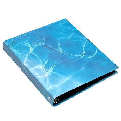 A4 名刺ファイル 4穴 200ポケット ウォーター BLUE シンプル 公式通販サイト edc