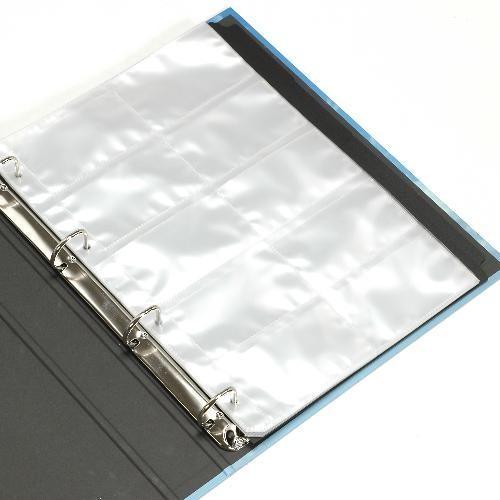 A4 名刺ファイル 4穴 200ポケット ウォーター BLUE シンプル 公式通販サイト edc 02