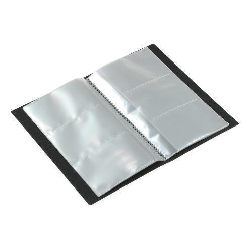 名刺ホルダー 120ポケット ブラック SOLID クリアファイル 収納 シンプル 公式通販サイト edc 02