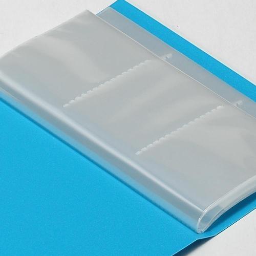 名刺ホルダー 120ポケット スカイ SOLID クリアファイル 収納 シンプル 公式通販サイト|edc|02