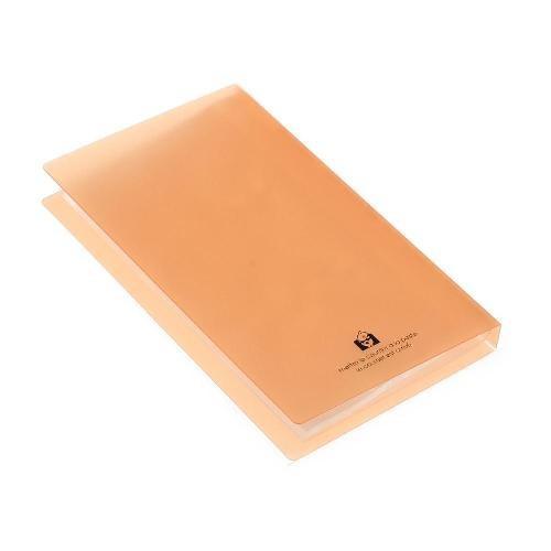 名刺ホルダー 120ポケット オレンジ TRP クリアファイル 収納 シンプル 公式通販サイト edc 03