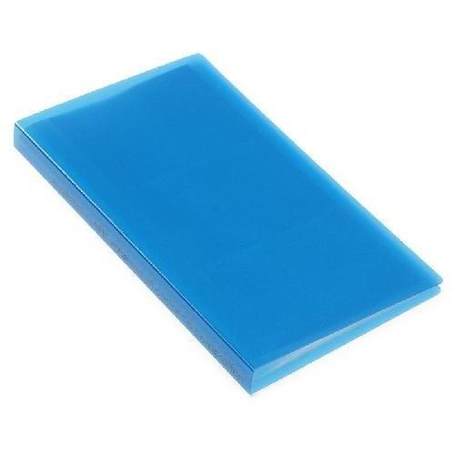 名刺ホルダー 120ポケット ブルー TRP クリアファイル 収納 シンプル 公式通販サイト|edc