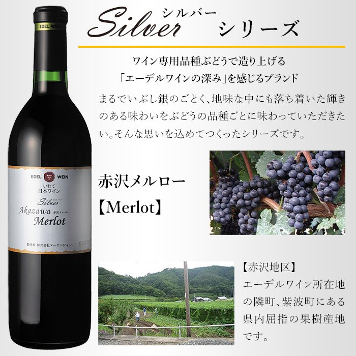 エーデルワイン シルバー 赤沢メルロー 2018 赤ワイン 辛口 ミディアムボディ|edelwein|02