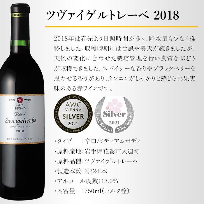 エーデルワイン シルバー ツヴァイゲルトレーベ 2018 赤ワイン 辛口 ミディアムボディ edelwein 03