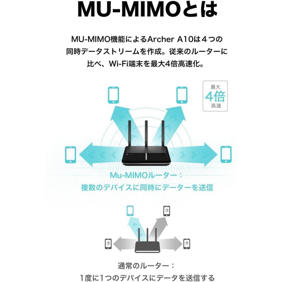 【別途ルーター用スタンド付】TP-Link WiFi ルーター 1733 + 800 Mbps 無線LAN MU-MIMO フルギガポート Archer A10(送料無料)|edgeclimbers|05