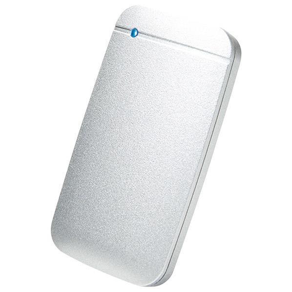 エレコム USB Type-Cケーブル付き外付けポータブルSSD 1TB シルバー ESD-EF1000GSVR [ESDEF1000GSVR]