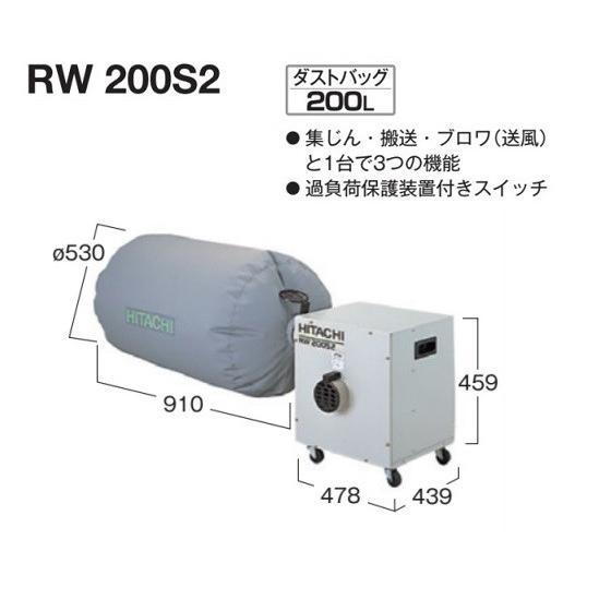 HiKOKI RW200S2 木工用集じん機 ダストバッグ200L 単相100V 新品