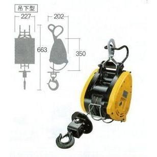 新品 リョービ WI-125-21m ウインチ 最大吊揚荷重130kg ワイヤ−ロ−プφ5mmX21m付 新品 送料無料 一部地域除く 代引き不可