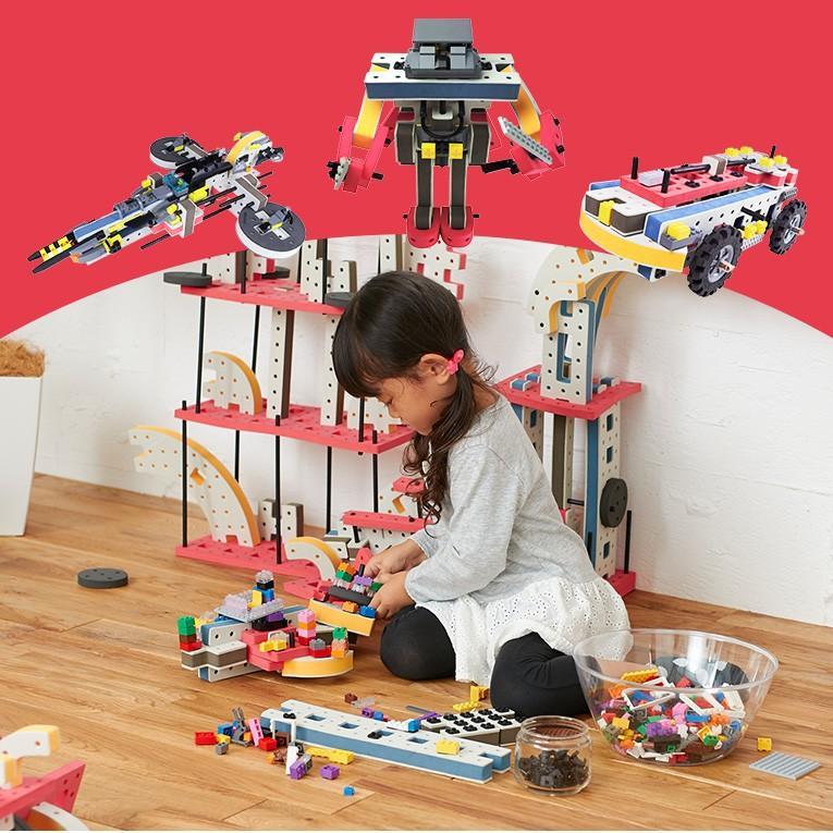 おもちゃ 知育玩具 BAKOBA バコバ 知育ブロック ビルディングボックス4  ブロック 3歳 4歳 誕生日プレゼント レゴブロック レゴ互換|edute|10