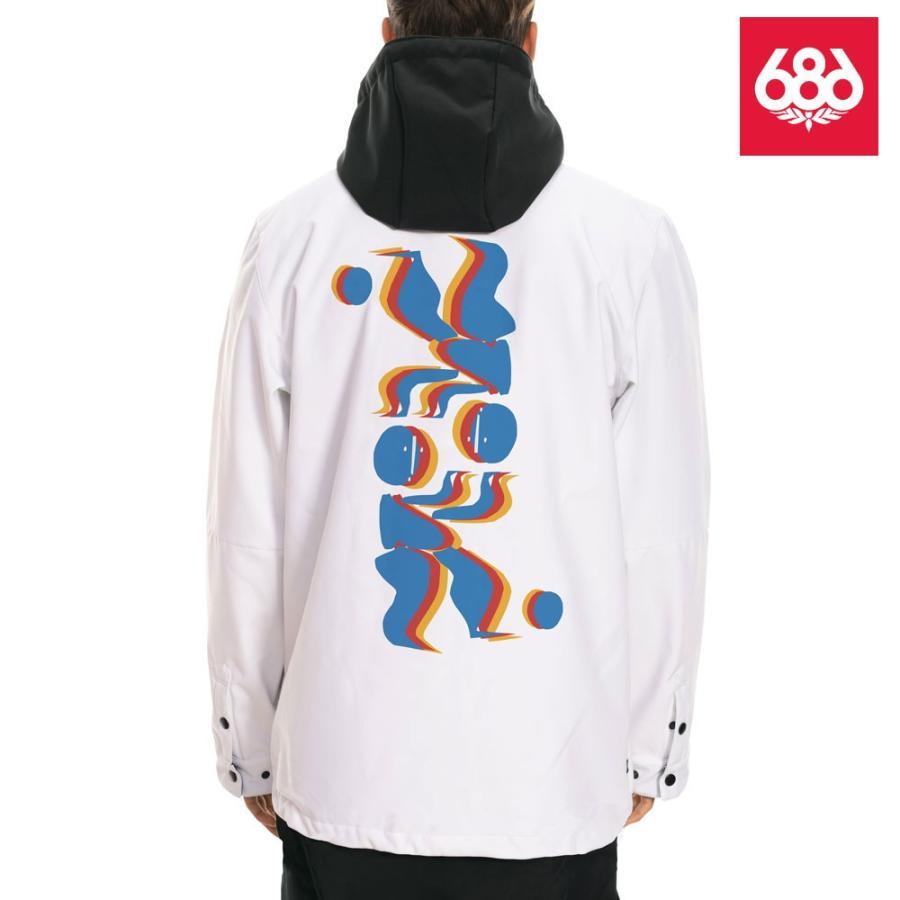 シックスエイトシックス ウォータープルーフ コーチーズ ジャケット L9WCST03 白い メンズ 686 Waterproof Coaches Jacket