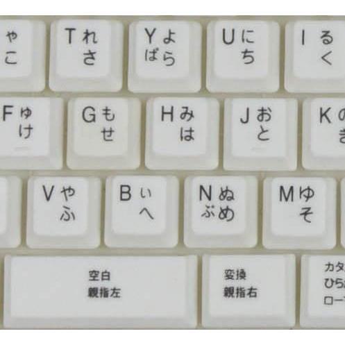 親指シフト表記付きUSBライトタッチキーボード(白-White)|eeelife