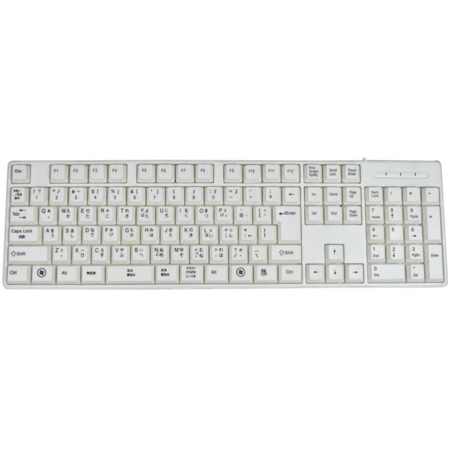 親指シフト表記付きUSBライトタッチキーボード(白-White)|eeelife|02