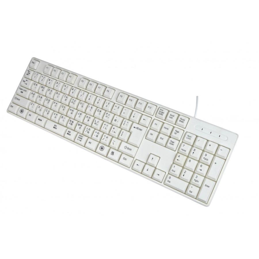 親指シフト表記付きUSBライトタッチキーボード(白-White)|eeelife|03