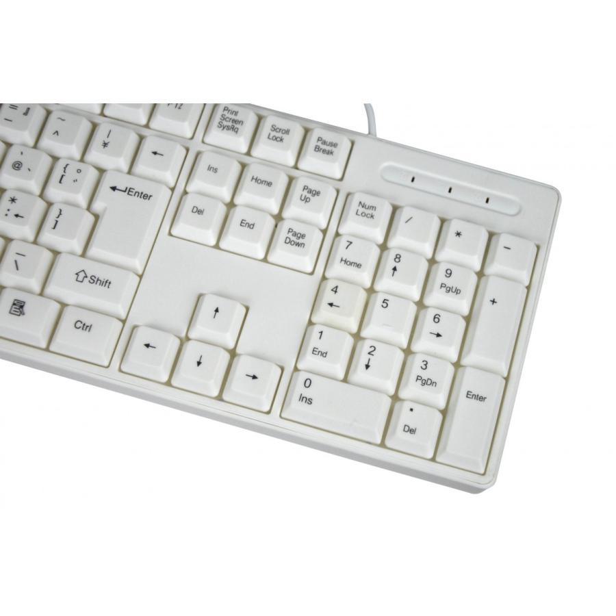 親指シフト表記付きUSBライトタッチキーボード(白-White)|eeelife|04