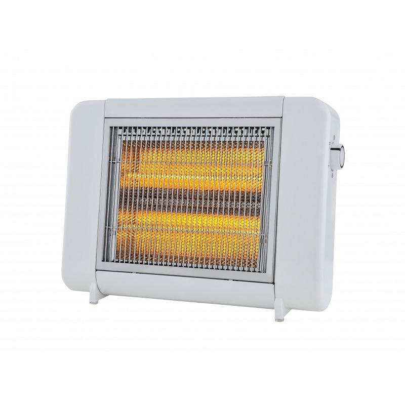 ハロゲンヒーター MS−HA808TS 400W/800W切替 転倒OFFスイッチ搭載 温度ヒューズ 温度過昇防止装置 800W|eeemo