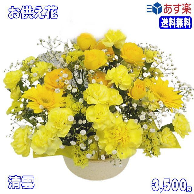 ペットのお供え・お悔やみに贈る花 フラワーアレンジ 青雲  3,500円 今だけ 送料無料 eehana 02
