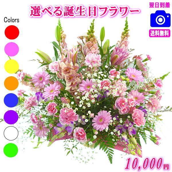花 ギフト バースデー 土日祝も営業 大人気誕生日専用フラワー10,000円 送料無料  あすつく対応  メッセージカード付き|eehana