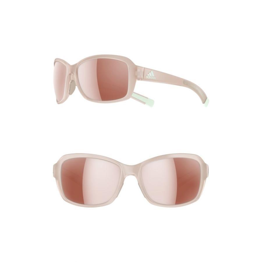 アディダス ADIDAS レディース スポーツサングラス Baboa 55mm Sport Sunglasses Matte グレー/ Active 銀