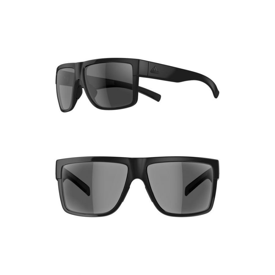 アディダス ADIDAS レディース スポーツサングラス 3Matic 60mm Sport Sunglasses Shiny 黒/ グレー