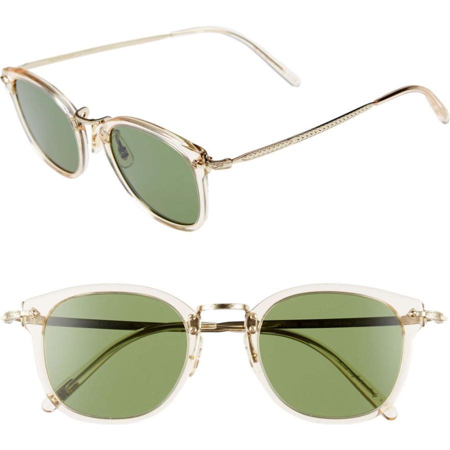 有名な高級ブランド オリバーピープルズ OLIVER PEOPLES メンズ メガネ PEOPLES・サングラス 49mm 49mm メンズ Round Sunglasses Buff, インテリアMOKA:378a56e7 --- chizeng.com