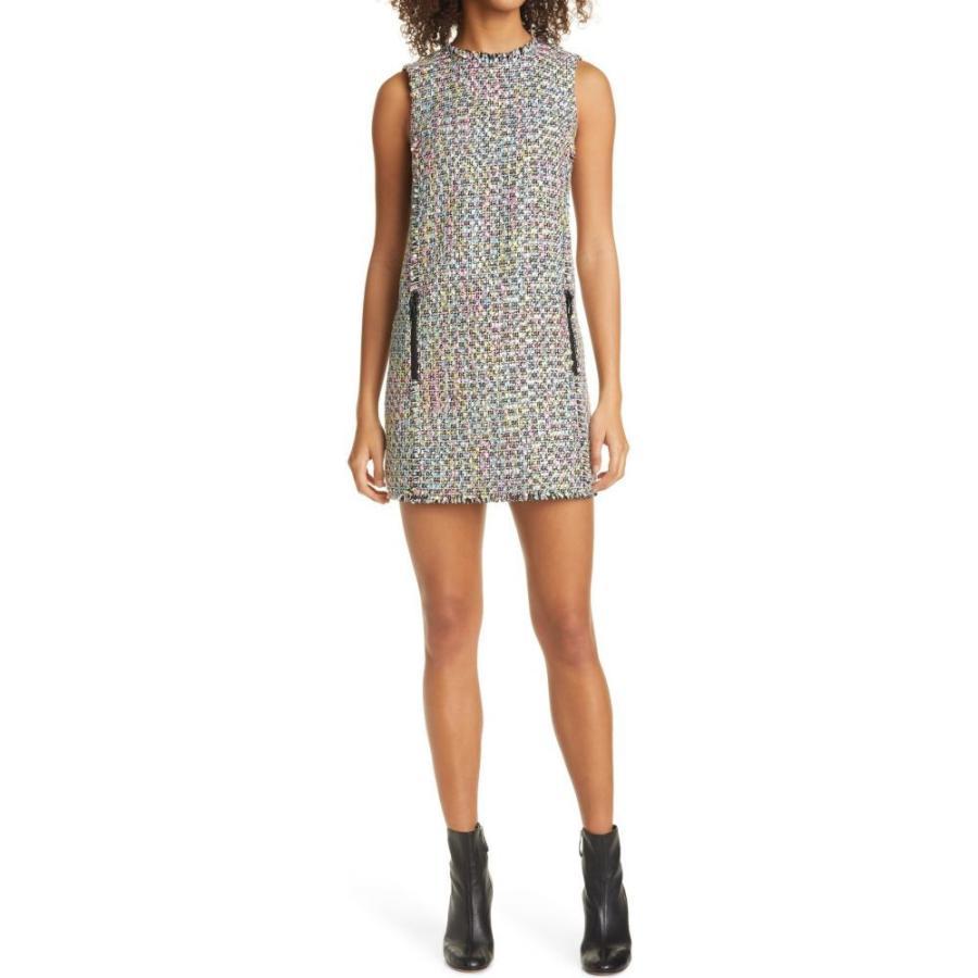 アルマーニ EMPORIO ARMANI レディース ワンピース ワンピース・ドレス Tweed Shift Minidress Pink Multi|ef-3