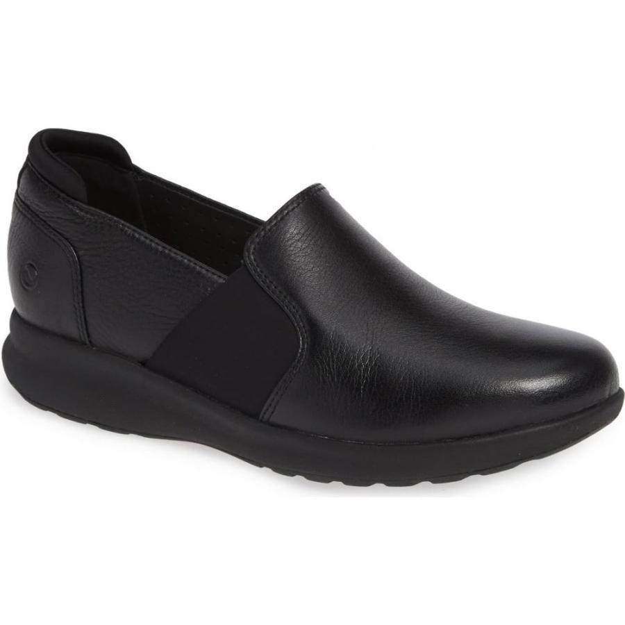 オリジナル クラークス CLARKS レディース スニーカー シューズ・靴 Un Adorn Step Sneaker Black Leather, フジサキマチ 6c489f88