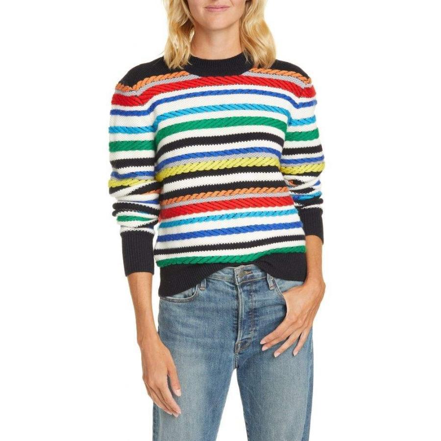 ラ リーニュ LA LIGNE レディース ニット・セーター トップス Fair Isle Mix Stitch Merino Wool Sweater Cream/Multi
