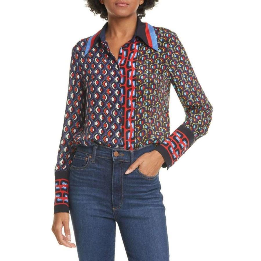 【1着でも送料無料】 アリス アンド + オリビア ALICE + OLIVIA レディース アンド ブラウス Multi・シャツ トップス Willa Large Collar Print Silk Shirt Mod Moon Multi, 侍丸:10b0b900 --- fresh-beauty.com.au