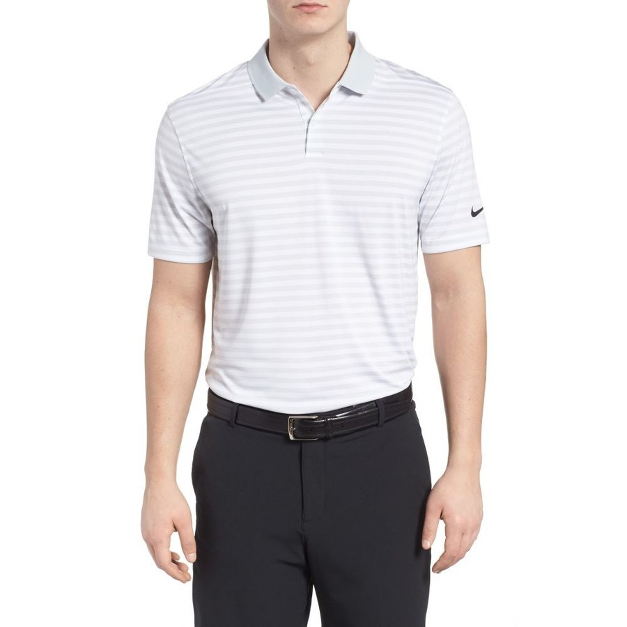 ナイキ NIKE メンズ トップス ゴルフ Victory Dri-FIT Stripe Golf Polo Pure Platinum/白い/銀