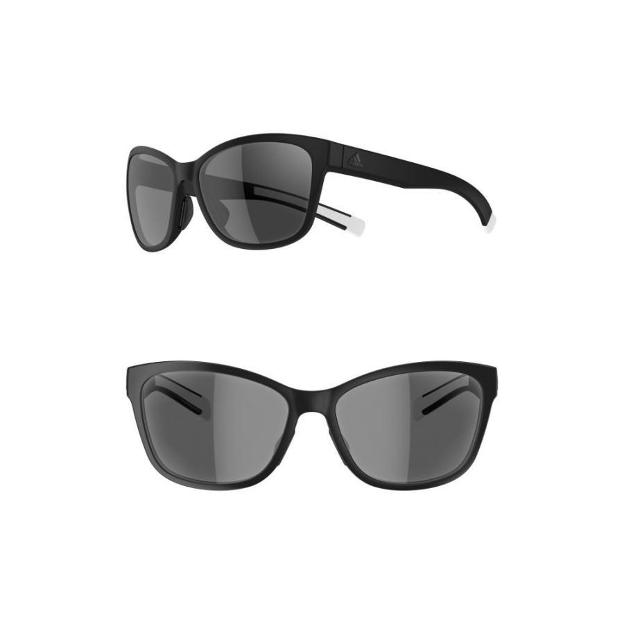 アディダス ADIDAS レディース スポーツサングラス Excalate 58mm Sport Sunglasses 黒 Matte/ グレー