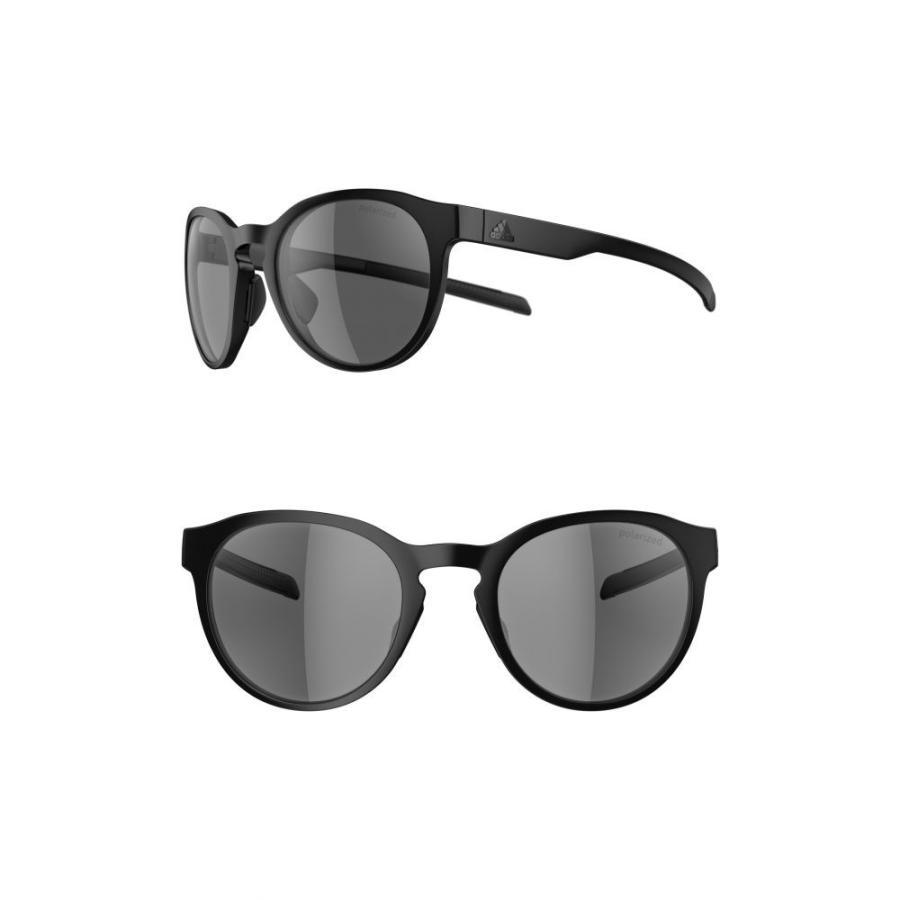 アディダス ADIDAS レディース スポーツサングラス Proshift 52mm Polarized Sport Sunglasses 黒 Matte/ グレー